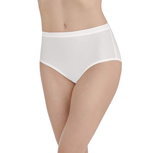 Vanity Fair Damen Light and Luxurious Brief Panty 13196 Unterhose, Star White, Medium - Slip Bikini Hanes