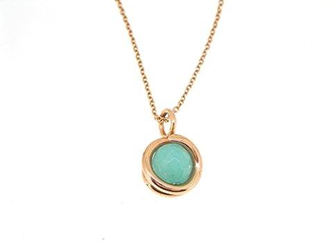 Rose Gold Aqua Jade Necklace