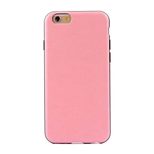 JIALUN-Telefon Fall IPhone 6 6S Fall, bunte Muster Kunstleder Stil Soft Case TPU + PC 2 In 1 Material Haut Abdeckung Fall Für IPhone 6 6 S ( PATTERN : Red , Size : IPhone 6/6S ) Pink