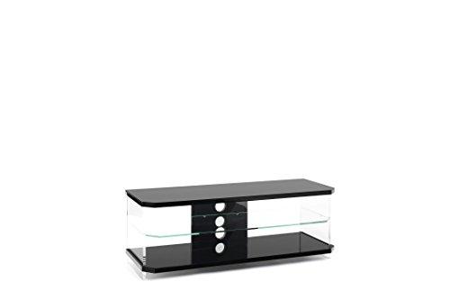 Techlink Air ai110b High Rahmen schwarz glänzend und Regal Ständer für TV 's bis zu 139,7cm - 60 Flat-panel-tv-ständer