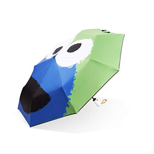 GYJ Kinderregenschirm, Fun Frog Automatikschirm, kompakt, extra stark, tragbar, Winddicht, wasserdicht, stark, klein, leicht, Auto Open Close -