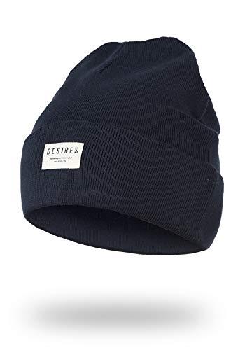 DESIRES Biene Damen Wintermütze Beanie Mütze Aus 100% Baumwolle Strick Mit Logobadge, Größe:ONE Size, Farbe:Insignia Blue (1991)