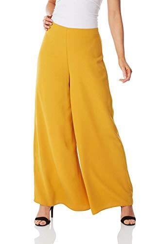 Falda-pantalón amarillo mostaza para mujer