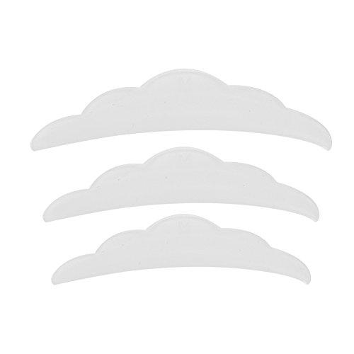 3 Paar Hot Eyelash Silicone Gasket Curl Silicone Schutzpolster Wimpernverlängerung S M L - Hot Curl-bürste