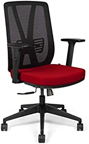SOS Spacewood LiteOffice Xline LX Mesh Back Nylon Base Ergonomic Office Chair (Red)