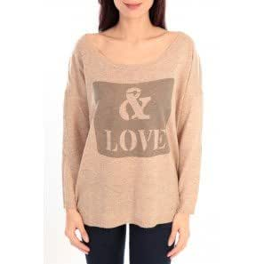 Pull And Love 1050 Beige - Vetement Femme Couleur-Beige Taille L/xl