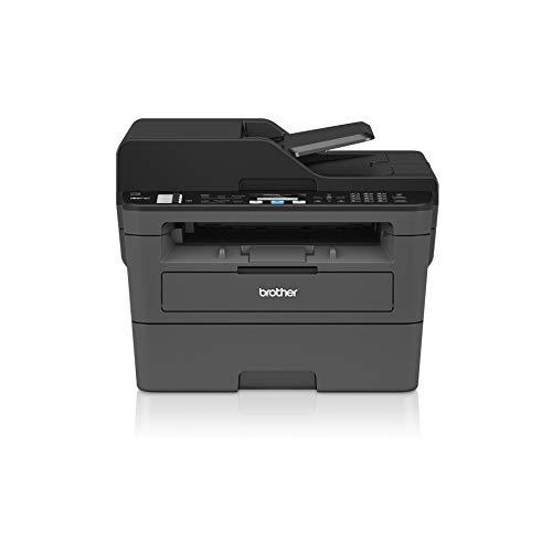brother mfc-l2710dn stampante multifunzione, con laser monocromatico 4 in 1, velocità in stampa 30 ppm con rete cablata, duplex in stampa, adf da 50 fogli e display lcd, 410 x 398.5 x 318.5 mm