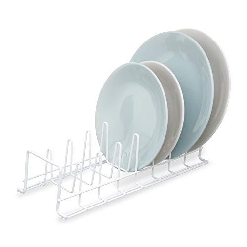 Simplywire - Escurridor de platos de cocina - Organizador de almacenamiento de armario Large blanco