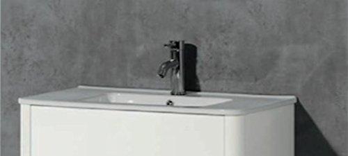 Plan vasque en céramique largeur 80 cm et 100 cm gamme Sun - MB Expert Largeur:80 cm - Blanc
