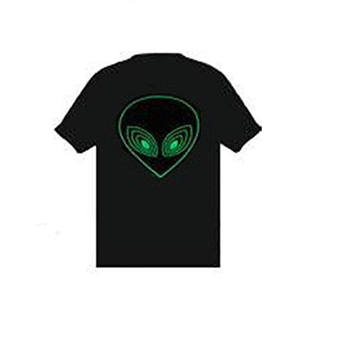 active Equalizer EL Blinklicht T-Shirt Gr. XX-Large, schwarz ()