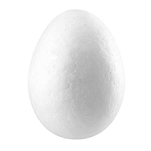 Cuigu 10 Stück Eier aus Schaumstoff für Handwerk, weißes Kugelschreiber für Ostereier, Graffiti, Malerei, kreativ, Ostereier, Kinder, Lernspielzeug, Schaumstoff, gelb, 8cm/3.15in