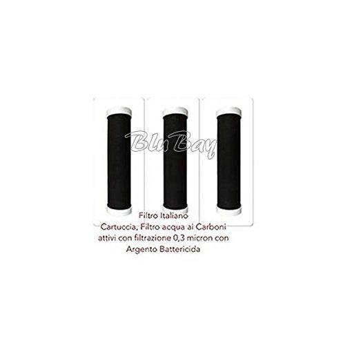 Carbon Block sistema di filtrazione argentizzata con matrice filtrante 0.3