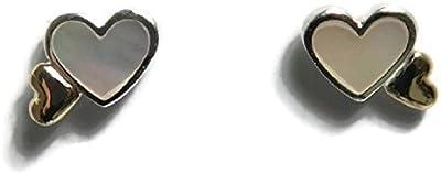 PANDORA - Corazones Pendientes de plata brillante 925 / 1000e et Or 585 / 1.000 PANDORA 290697MOP