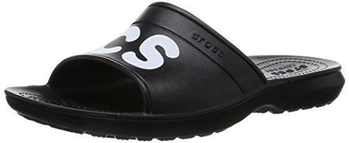 Crocs 204465, ciabatte unisex adulto, nero (black/white), 46-47 eu
