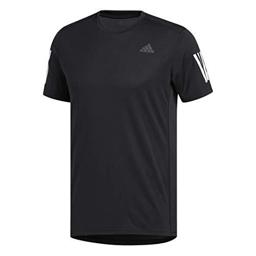 adidas Herren Own The Run Tee kurzärmelig schwarz/weiß Large