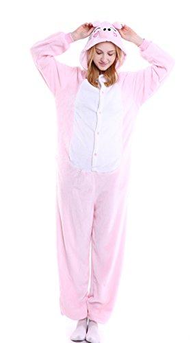 Party Halloween Kostüme Stadt Katze (Dingwangyang Uinisex Erwachsene Pyjama Onesie Kigurumi Cosplay Kost¨¹me Tier Overall Peppa)