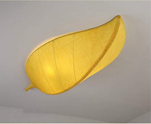 Plafoniera, lampada da soffitto a forma di foglia di luce a forma di personalità creativa, per corridoio, camera da letto, soggiorno, cucina, sala da pranzo (colore : giallo-60 * 28)
