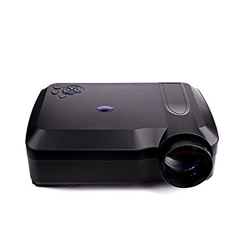 Home Video Projektor - Kingwo XPE650 HD Projektor 300 Lumen 1280 * 768 1000: 1 KONTRAST Auflösung 120 Zoll Video Display Unterstützung HDMI VGA USB SD AV TV-Eingang für Heimkino + Gratis VGA + HDMI-Kabel, Schwarz
