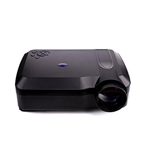 Inicio de vídeo HD proyector - Kingwo XPE650 HD proyector 300 lúmenes 1280 * 768 1000: 1 Resolución 120 pulgadas de visualización de video de la ayuda HDMI VGA de entrada de TV AV USB SD para el cable de cine en casa + Free VGA + HDMI,