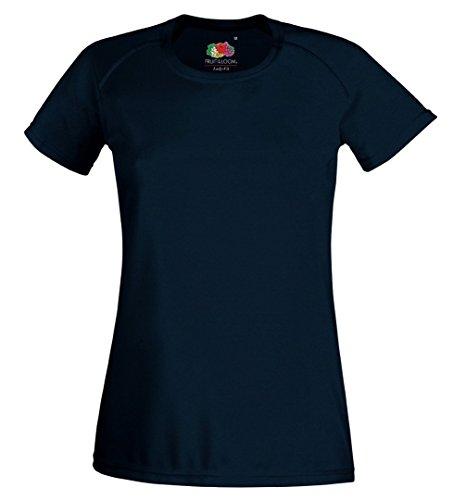 Fruit Of The Loom - Maglietta da donna a manica corta Blu scuro navy