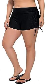 ATTRACO Womens Plus Size Swim Shorts High Waisted Swimsuit Shorts Boyleg Swim Bottoms