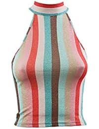 ca2287279c14 Kontatto - Top Scollo Americana Donna - Multicolore
