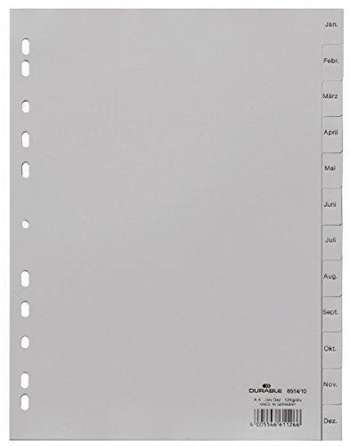 DURABLE Kunststoff-Register, Monate, A4, Dezember - Januar VE = 1