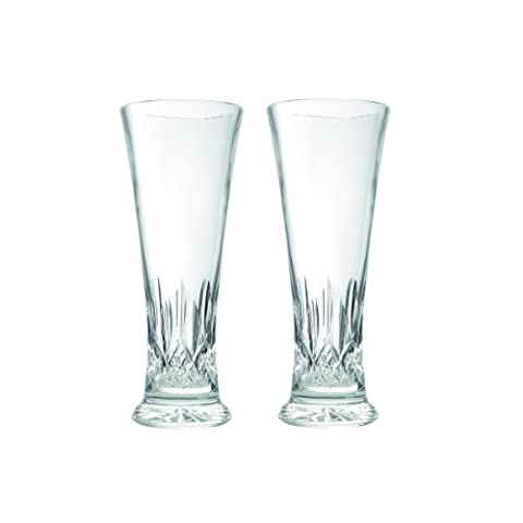 Waterford Lismore Pilsner Pair, 14-Ounce by Waterford Crystal