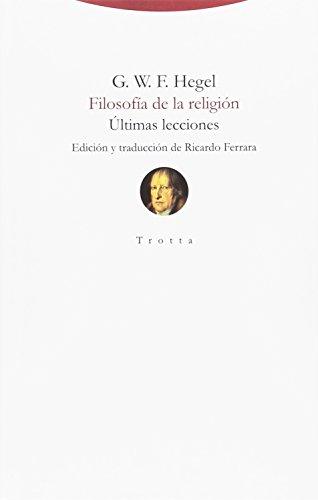 Filosofía de la religión: Últimas lecciones (Torre del Aire) por G.W.F. Hegel