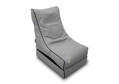 Pufmania Bean Bag Beanbag Lounger Polyester Waterproof 50x 75cm Folded/150x 70cm Deployed (Grey Stone)