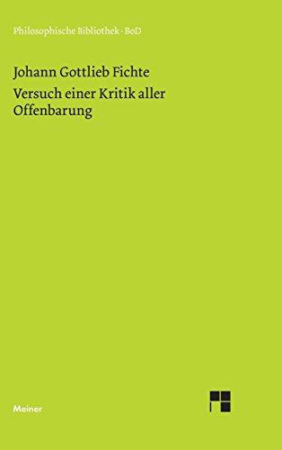 Philosophische Bibliothek, Bd.354, Versuch einer Kritik aller Offenbarung.
