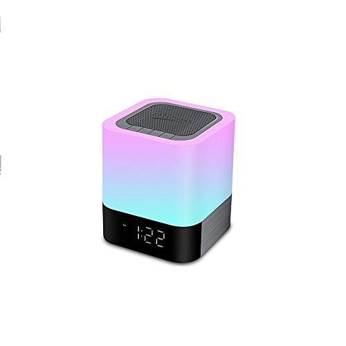 GY-Lmap Nachtlicht Nachttischlampe Lichtwecker Mit Bluetooth Lautsprecher Touch Bunt Farbwechsel Tischlampe Touchlampe Stimmungslicht
