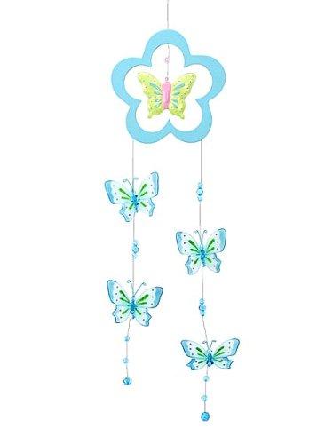 Mobile joli papillon turquoise pailleté