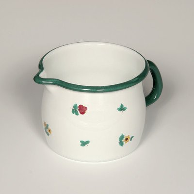 Riess 0093-049 Country-Gmundner Blumenkrug, gewölbt, Durchmesser 10 cm, mehrfarbig