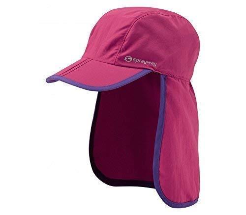 Sprayway Kinder Stratford Cap mit Hals Klappe UV-Schutz, Rose Pink/Thistle -
