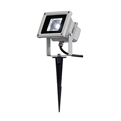 SLV LED Outdoor Beam, 10 W, 100 Grad, IP65, silbergrau / weiß 231101 von SLV auf Lampenhans.de
