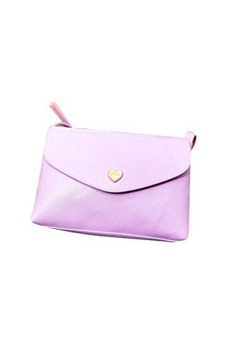 TOOGOO(R) Sacchetti di spalla del corpo trasversale delle borse di cuoio delle donne calde di vendita I sacchetti del messaggero di modo dei sacchetti delle piccole donne Rosa caldo Viola