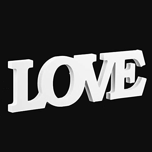 Cloverly Charme Design Imitation en Bois Love Lettres Partie Intérieur Maison Maison Décoration Table De Mariage Ornements Blanc