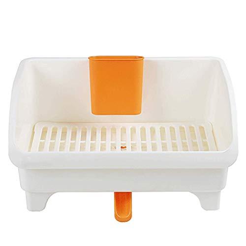 WYQ Blanc égouttoir Vaisselle Plastique, avec Plateau (pour Ranger Bols, Assiettes, Tasse, Vaisselle) Gardez Le Bien rangé (Couleur : Blanc, Taille : 31.5cm × 24cm × 18cm)
