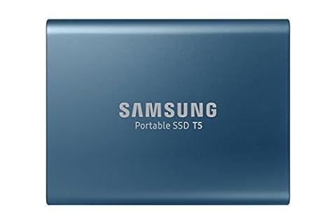 Samsung MU-PA500B/EU Portable SSD T5 500GB ((bis zu 540 MB/s) + USB Kabel Typ C auf C und Typ C auf