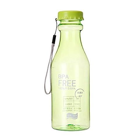 QHGstore Unzerbrechlichem Kunststoff Limo-Flasche verschlossen transparente Flasche Glasse Gr¨¹n