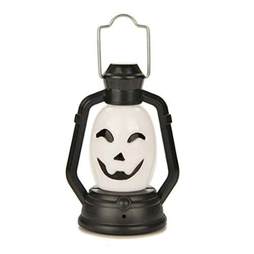 Halloween Décoration Partie Accessoires Portable Lanterne Citrouille Lumière De Nuit Crâne Sorcière Fantôme Coloré Lampe À Suspension LED pour Enfants 3 PCS,A