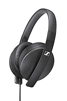 Sennheiser HD 300 Around-Ear Lightweight Foldable Headphones - Black