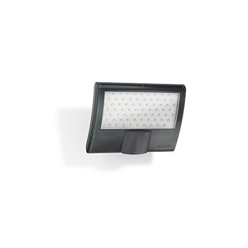 Steinel LED-Strahler XLED Curved anthrazit, 10.5 W Flutlicht, 160° Bewegungsmelder, 8 m Reichweite, Wandleuchte außen