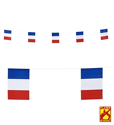(Generique - Frankreich Fähnchen Party-Girlande 15 x 20 cm)