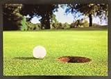 CEBEGO Golf Fußmatte GOLFPLATZ MIT LOCH, waschbar, mit Golf-Magnet,Golfmatte Fußabstreifer Golfplatz Golfgeschenk
