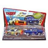 Cars 2 Figurine Darrell Cartrip et Brent Mustangburger Mattel