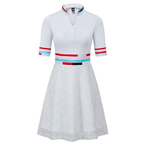 WENRIT Wen® Damen Golf Skort Rock mit Shorts und Tasche für Dress Running Tennis Golf (XL) - Solid Knit Short