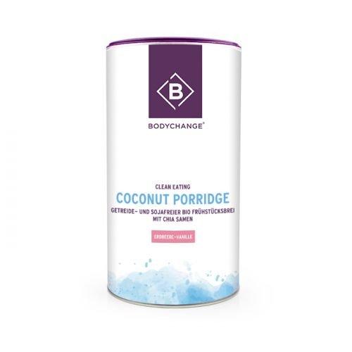 Haferflocken Mit Samen Chia (BodyChange Bio Coconut Porridge - Getreide- und sojafreier Bio Frühstücksbrei mit Chia Samen mit Erbeere-Vanille-Geschmack (350g))