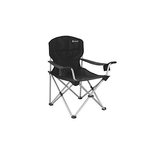 318IHsg 10L. SS500  - Outwell Catamarca Arm XL Camping Chair - Black